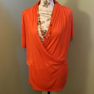 Joseph orange wrap top